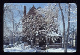 Jeffery and Mary Keating House, front with snow and trees