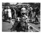 People's Fair, girl with painted clown face
