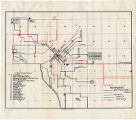 Denver showing street railway lines