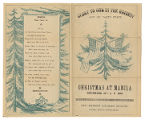 Edwin Segerstrom-Christmas at Manila: program