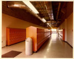 Orange student lockers, Auraria Higher Education Center