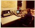 Woman at computer, Auraria Higher Education Center