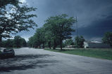 Buchtel Boulevard, looking West
