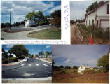"Collage of ""before"" and ""after"" pictures of Utica street improvements"