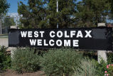 West Colfax Welcome sign