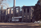 Old Douglas County Courthouse after fire