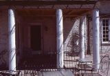Covered patio of the main house at the William Owens Estate