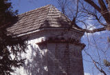 Roofing and turret of the main house at the William Owens Estate