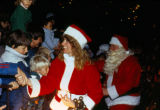 Visiting Santa Claus at Mission Viejo