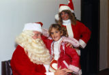 Child on Santa's Lap at Mission Viejo