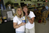 (DENVER, Colo., June 21, 2004) Nadia Shokohi (CQ Shokohi) and Kim Painter (lt.-rt.) in their...