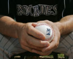 UTDP205 - ** SPECIAL TO THE ROCKY MOUNTAIN NEWS ** Casper Rockies pitching coach Mark Thompson...