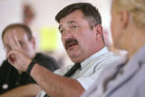 KAS0084 Brian Dawe speaks during a press conference about Colorado prisons at the Florence...