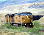 A Coal Train make it's way toward the Coal Mines in Summerset Colorado where seveal hundred cars...