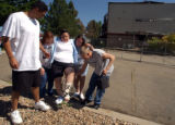 (Adams County, Colo., July 6, 2004)   l to r: Rickey (cq) Jones, Bobbie Richardson, Jessica...