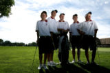 First shot of the 2006 prep season -- boys golf preview. The Kent Denver coach Bob Austin, cq,...