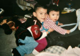 A family photo of Deion Santistevan, left, plays with his sister Yariah Santistevan in this...