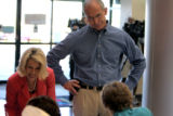 Claudia Beauprez(cq), left, and her husband Colorado gubernatorial candidate Bob Beauprez(cq) sign...