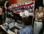 Supporters and volunteers of GOP 5th District Congressional Candidate State Sen. Doug Lamborn...
