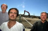 07/07/2004-Former Mobile Tool employees Scott Hendrix, from left, Gary Gormly and Randall Stadt at...
