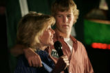 Danny Lamm, CQ, 18, right, watches his mother Peggy Lamm (cq) concedes to Ed Perlmutter in the...