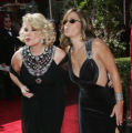 LA101 - **  FILE **Joan Rivers, left, and her daughter Melissa blow kisses as they arrive for the...