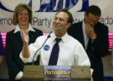 Democratic primary winner Ed perlmutter speaks at a democratic unity rally for the 7th...