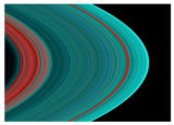 The best view ever of Saturn's rings in the ultraviolet indicates there is more ice toward the...