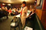 Petoskey, MI, May 7, 2004-- Patsy Ramsey campaigns for fer husband John Ramsey at the Northern...