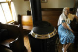 (VIRGINA DALE, Colo., June 27, 2004) June Peterson takes in the recently reconstructed Virginia...