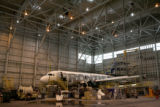 A Frontier Airlines  Airbus sits still while under heavy maintenance, Monday Aug. 14, 2006....