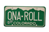 License plates for Top of the Rocky.  August 24, 2006.    (ELLEN JASKOL/ROCKY MOUNTAIN NEWS) **