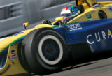 Nicky Pastorelli rounds turn 1 during a practice round on the rirst day of the Grand prix of...