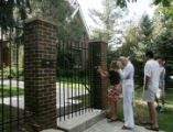 A realtor prepares to show an unidentified couple the home in Boulder, Colo., photographed on...