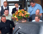 Pall Bearers Larry Miller,Jim Bell,Robert Bell,Toby Wollenweber,Guy Connors, Paul Miller along...