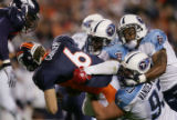 08/19/2006 Denver Broncos quarterback Jay Culter, who was 6 for 12 passing with 99 yards and one...