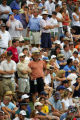 A large gallery had gathered around the 18th fairway and green to watch as Dean Wilson and Tom...