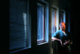 Bob Brantner stands in a training room at the Four Mile Correctional Center in Canon City. He has...