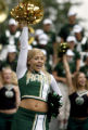 "DLM00679   ""Go CSU!"" yells cheerleader Amy Beth Nunnery during a pep rally in Skyline..."