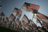 9/11 story.   New York on Sept 10, 2006.    NYC 9/11 Memorial Field at Inwood Park, where 3,000...