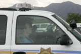 John Mark Karr is driven back to the Boulder County Jail Monday afternoon August 28, 2006 after...
