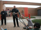 DLM00802   Boulder County Sheriff Joe Pelle talks with reporters moments before John Mark Karr...