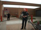 DLM00822   Boulder County Sheriff Joe Pelle talks with reporters moments before John Mark Karr...