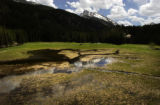 (MINTURN ,Colo., June 14, 2004-  The quad meadow wetlands sits at the base of the Mount of the...