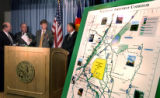 (DENVER,Colo., June 30, 2004- Mayors and representative from 5 communities met in the basement of...