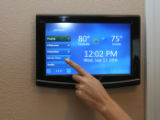 This is the control panel of a house built by Hewlett-Packard and Life/ware that is part of the...