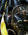 Cirque Du Soleil performers Acrobat -Dancer Sebastien Stedj (right) and aerialist Ginger...