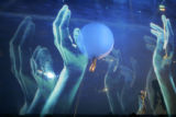 "Cirque Du Soleil performer/artist Karl Baumann plays ""Bill"" in a dream sequence in the..."