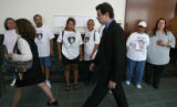DLM03769   Jonathan Ardoline, 25, walks out of court in Adams County in front of family members of...