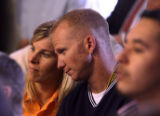 (l-r) Diane and Jack Bishop(cq) listen to testimony in Courtroom 6 in Denver Thursday, Sept. 14,...
